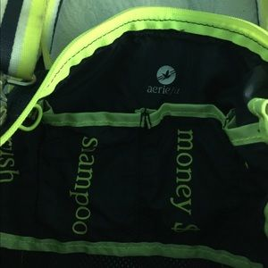 American Eagle Outfitters Bags - American Eagle navy & neon yellow gym tote